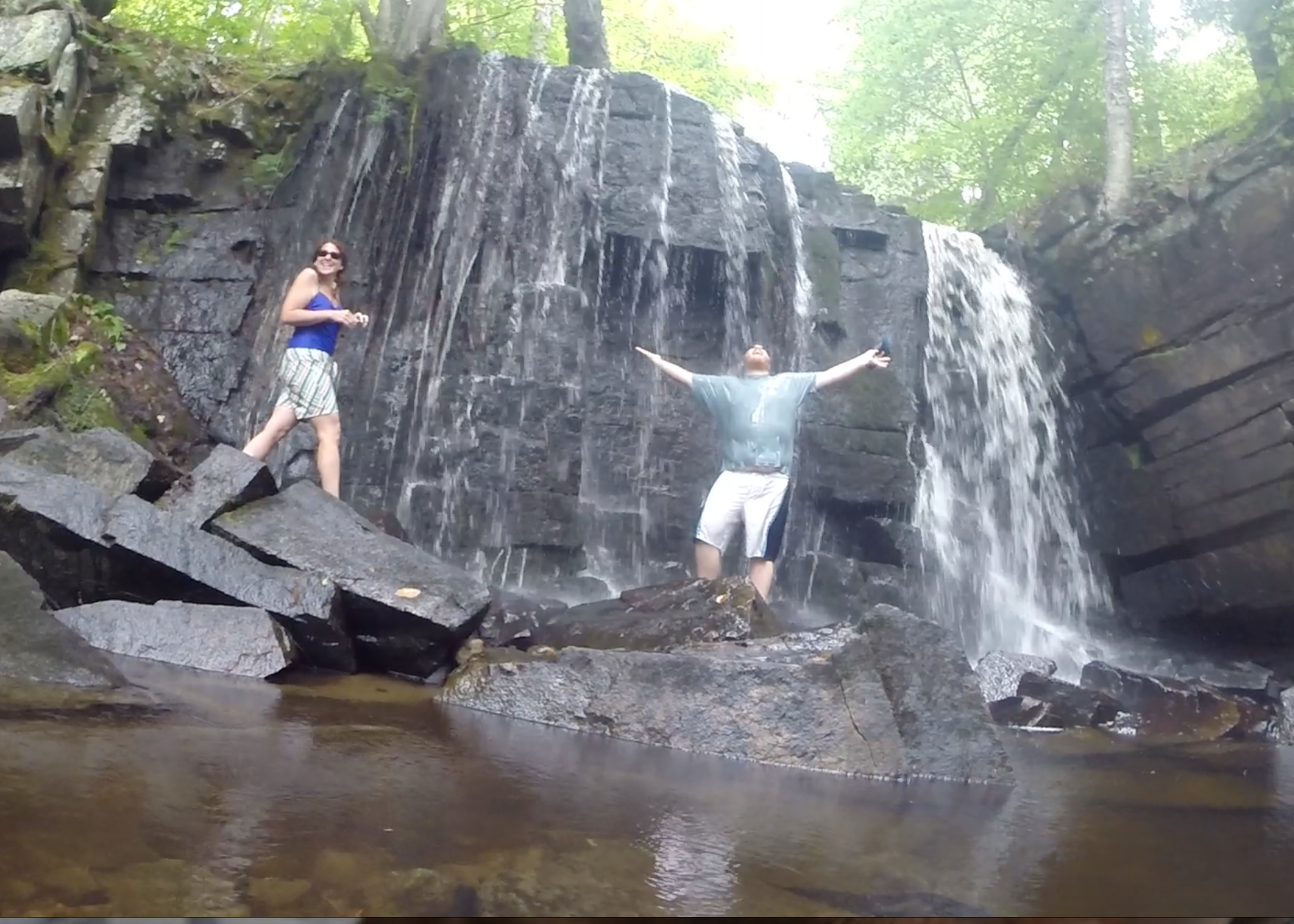 How often do you get to stand under an ADK waterfall?