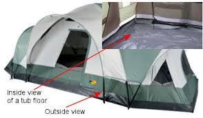 The tub of a tent is shown here.
