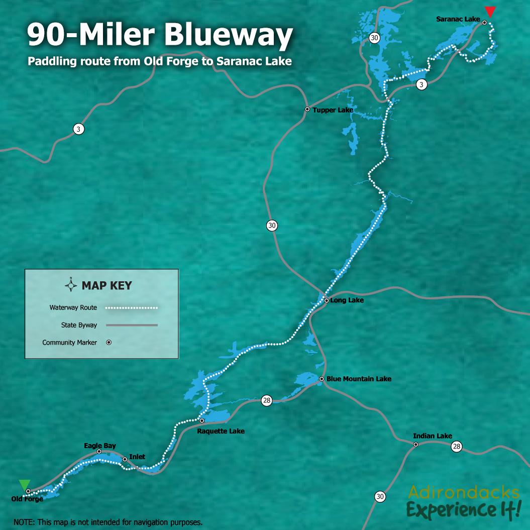 90 Miler Blueway Map - ROOST