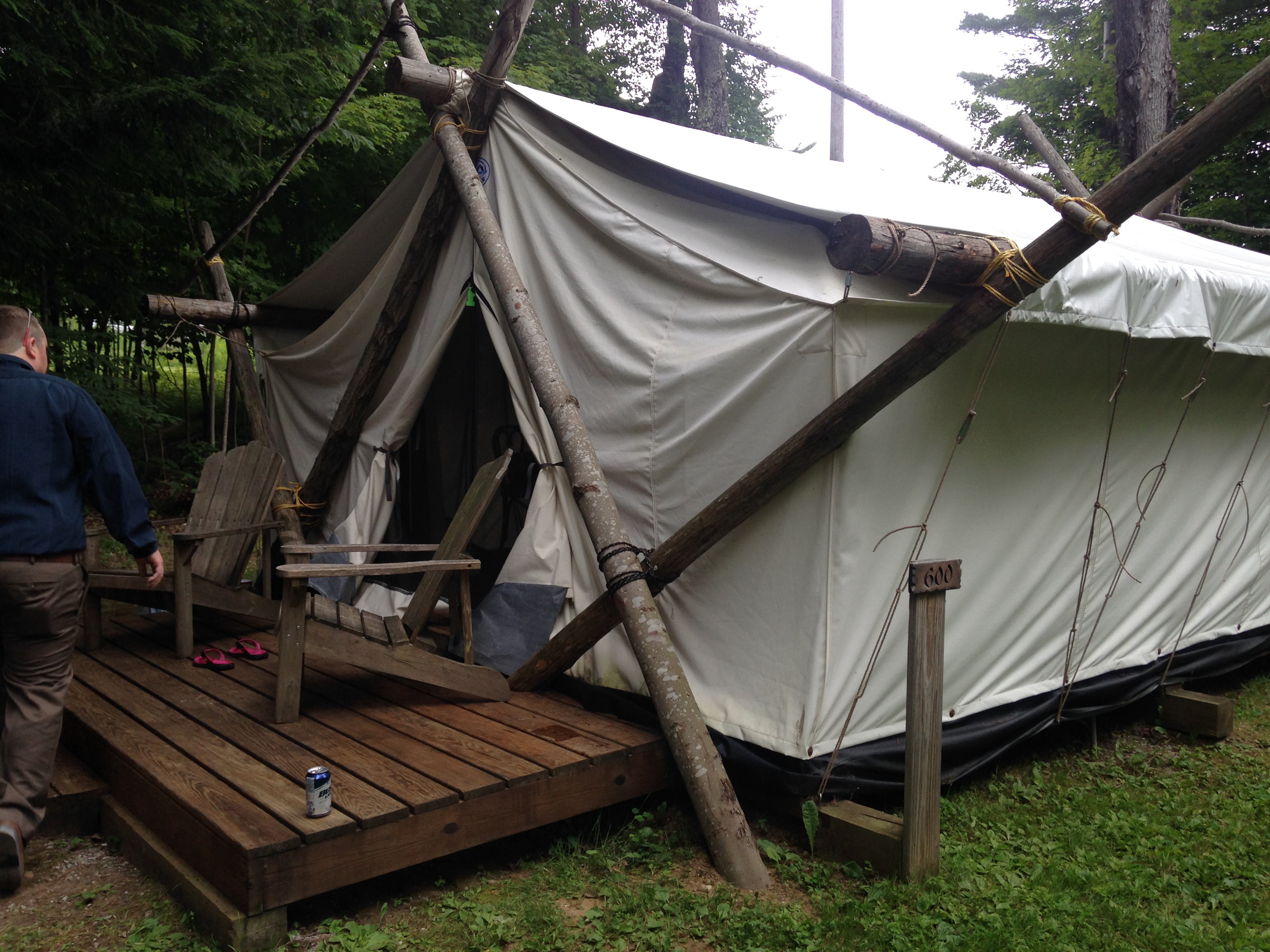 A Guide Tent at the Woods Inn