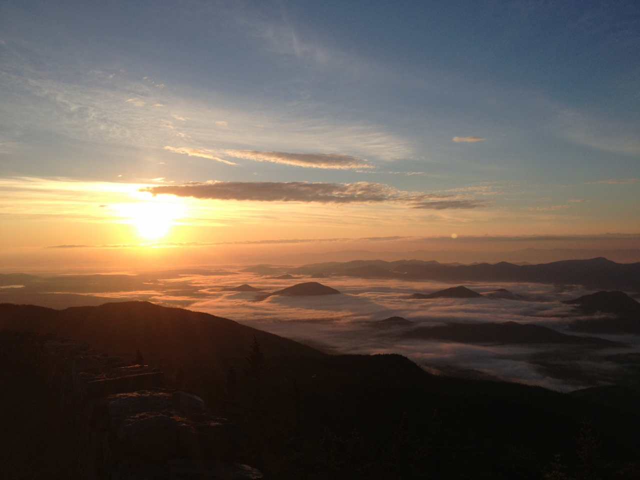 Sunrise on Whiteface Mountain by Joan Collins