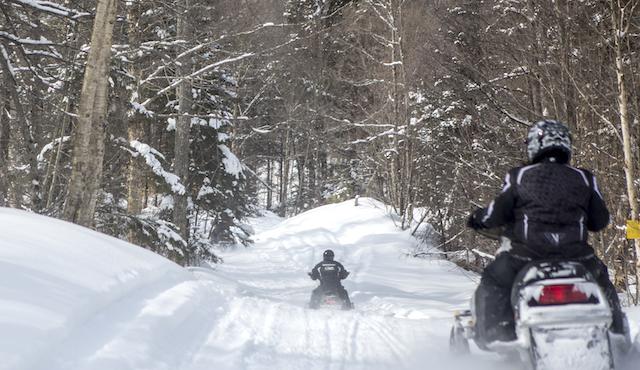 Snowmobiling in Speculator.