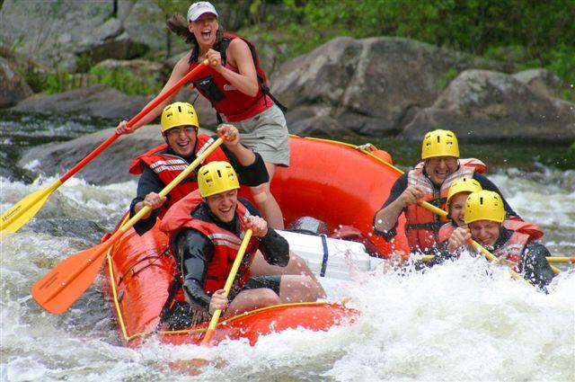 Whitewater rafting the Adirondacks.