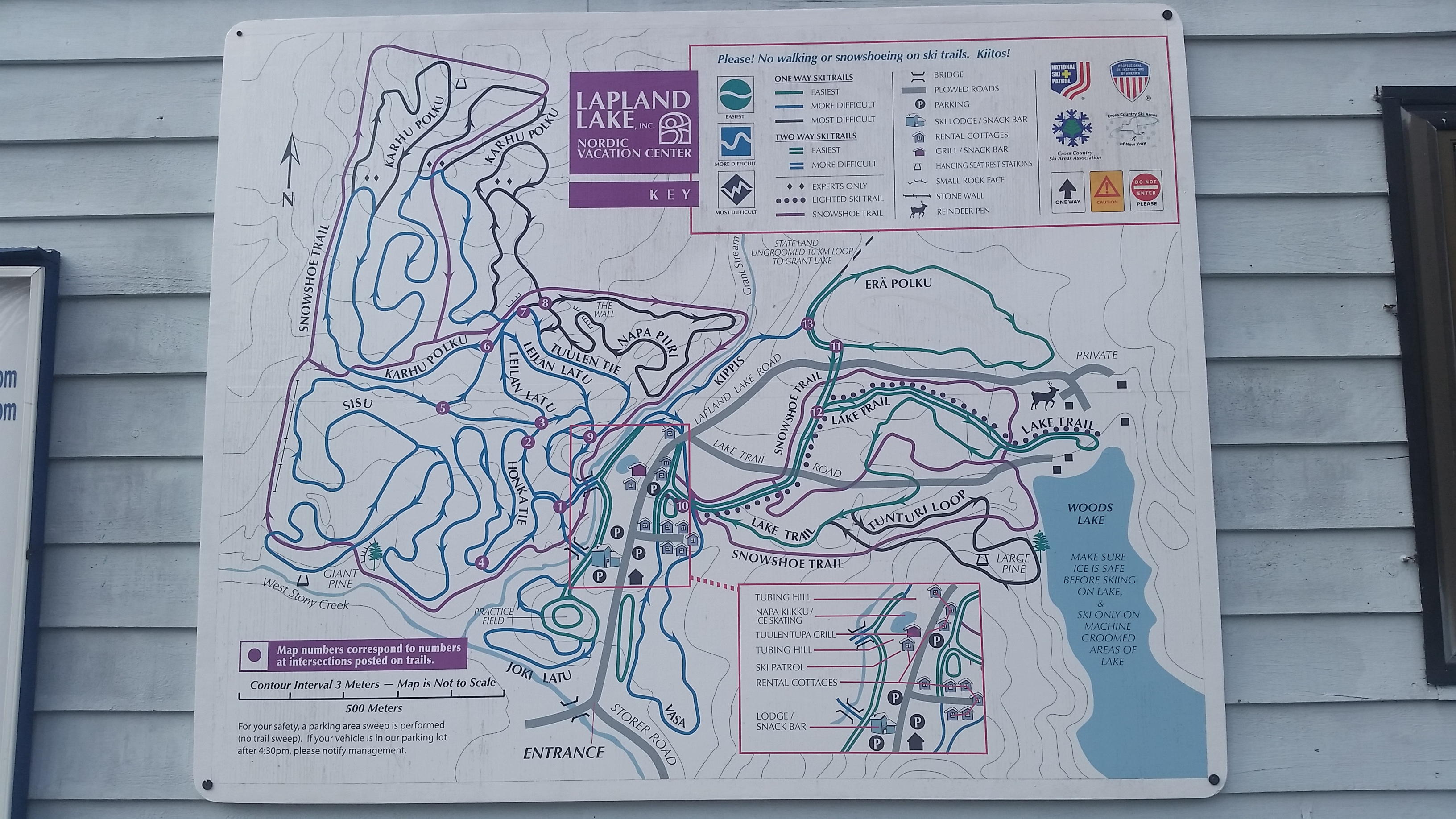 Lapland Lake Trail Map