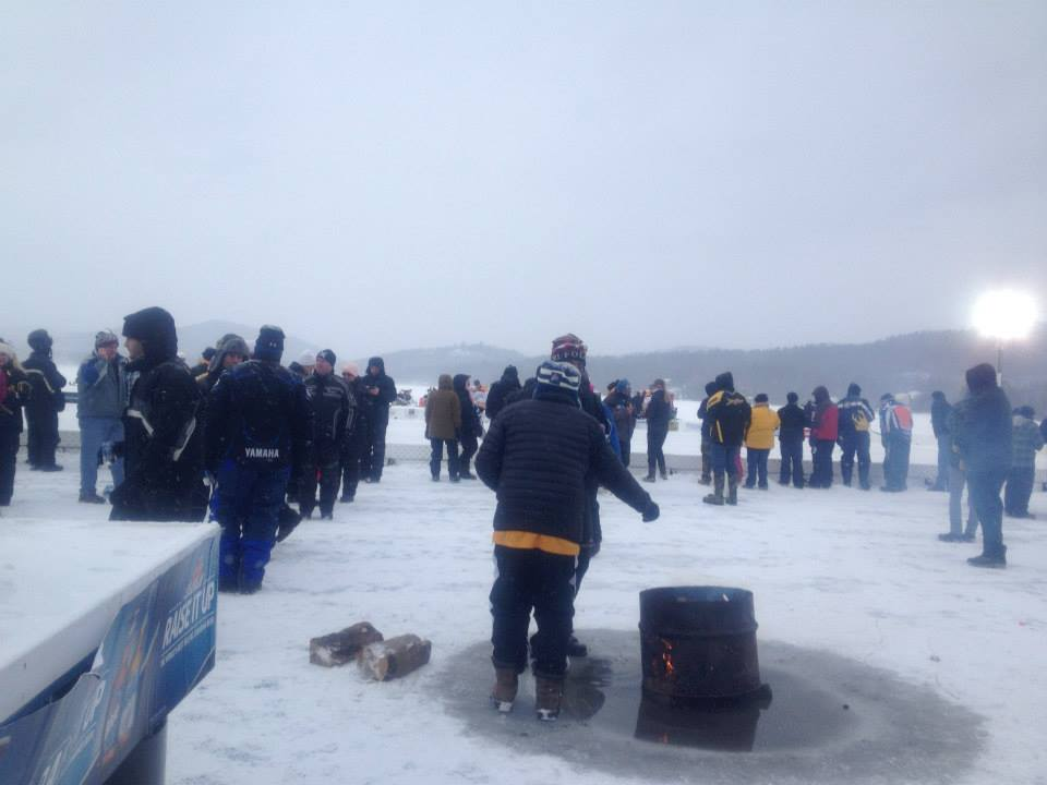 Ice Bowl Rink Side Fire