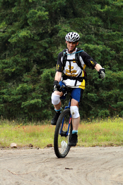 Unicyclist Steve Relles compete in the 2010 Black Fly Challenge - Inner Mountain Photo