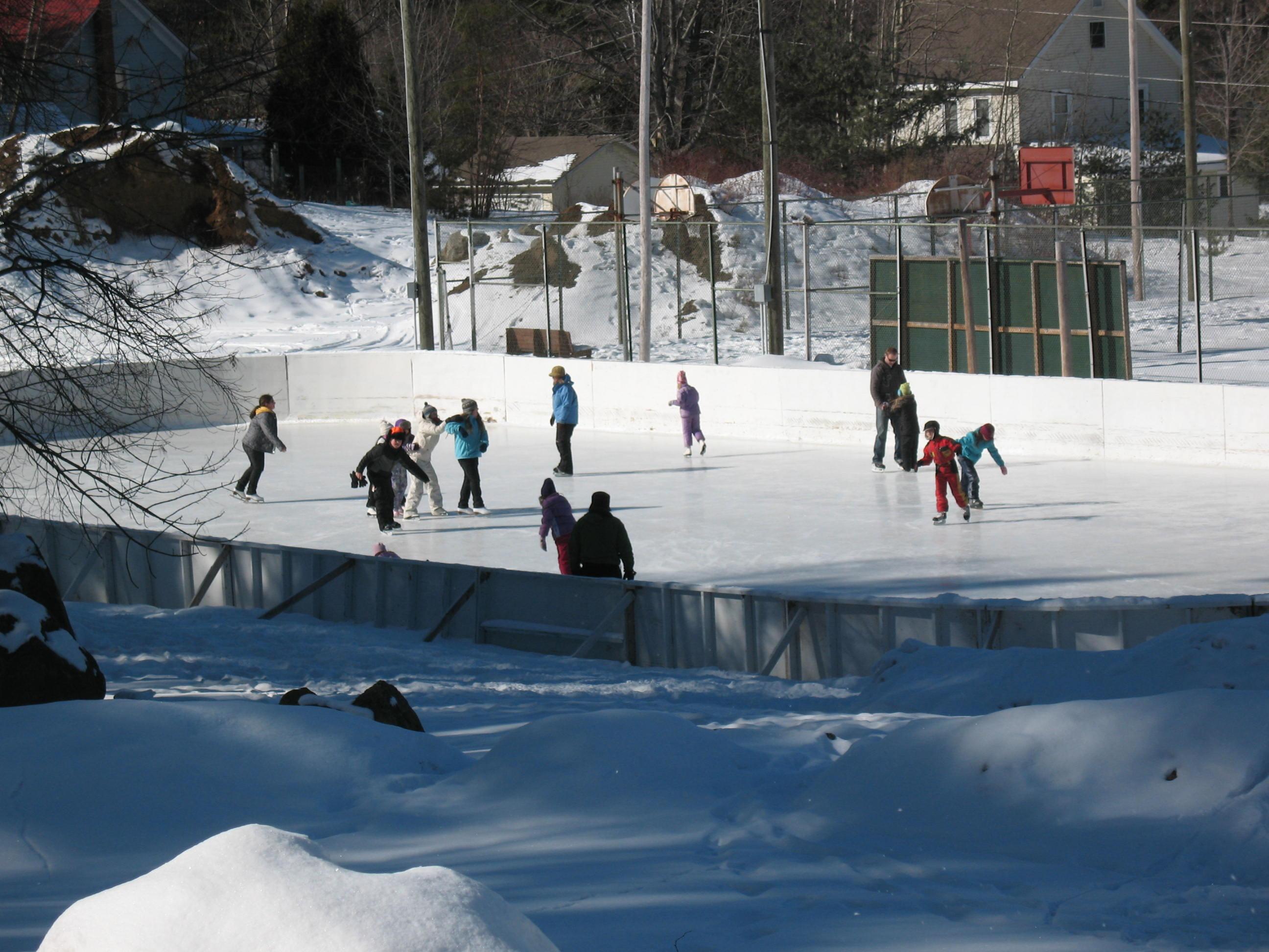 Ice Skating Mt Sabattis