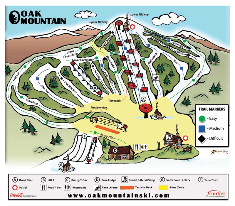 Oak Mountain Trail Map
