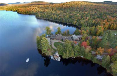 Arial shot of Great Camp Sagamore (photo provided)