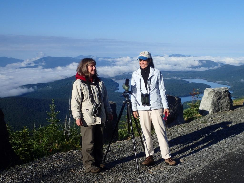 Birding on Whiteface Mountain, photo taken by Gil Eckrich