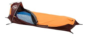 An example of a one-person bivy tent.