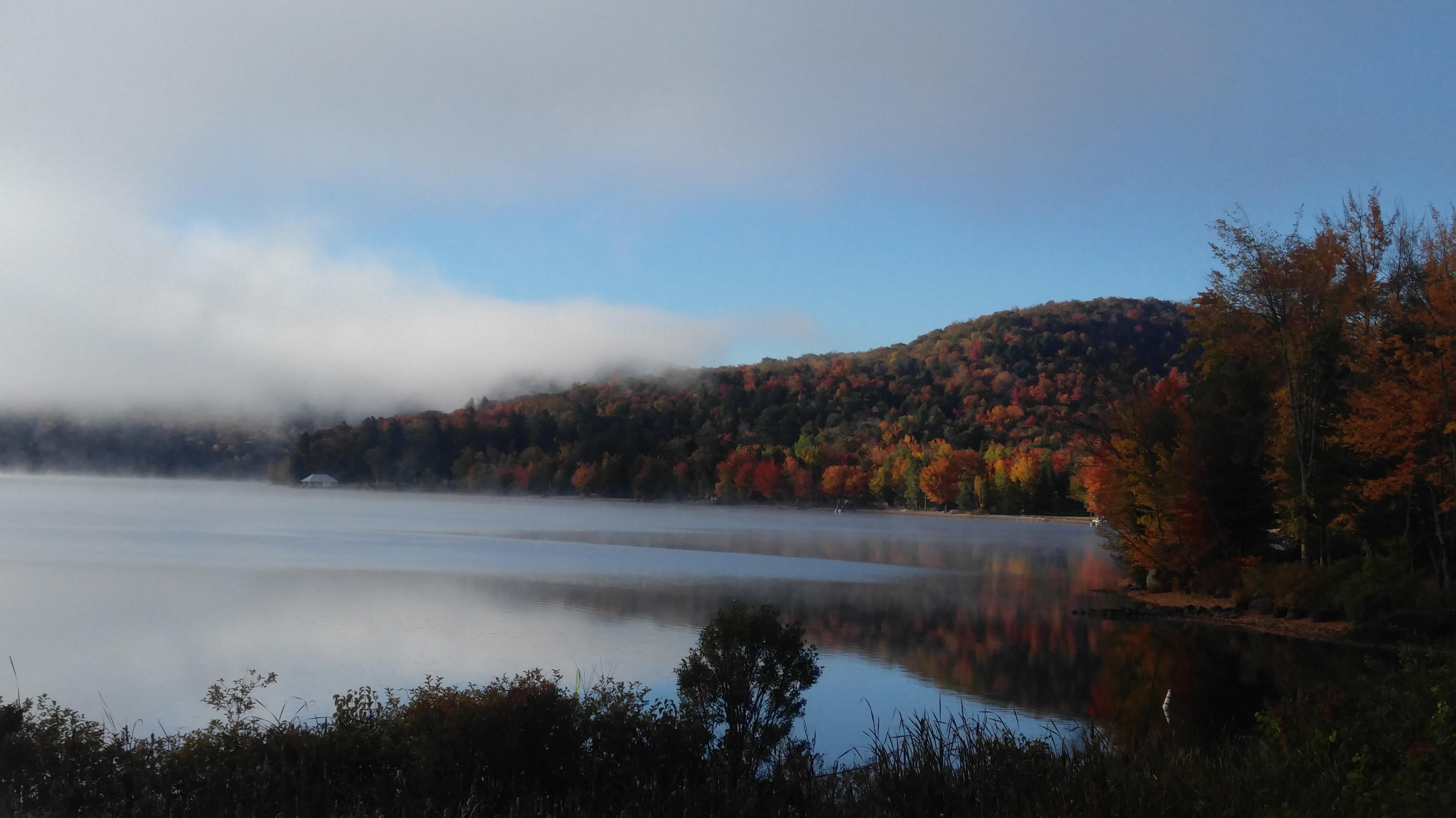 Lake Pleasant in fall.