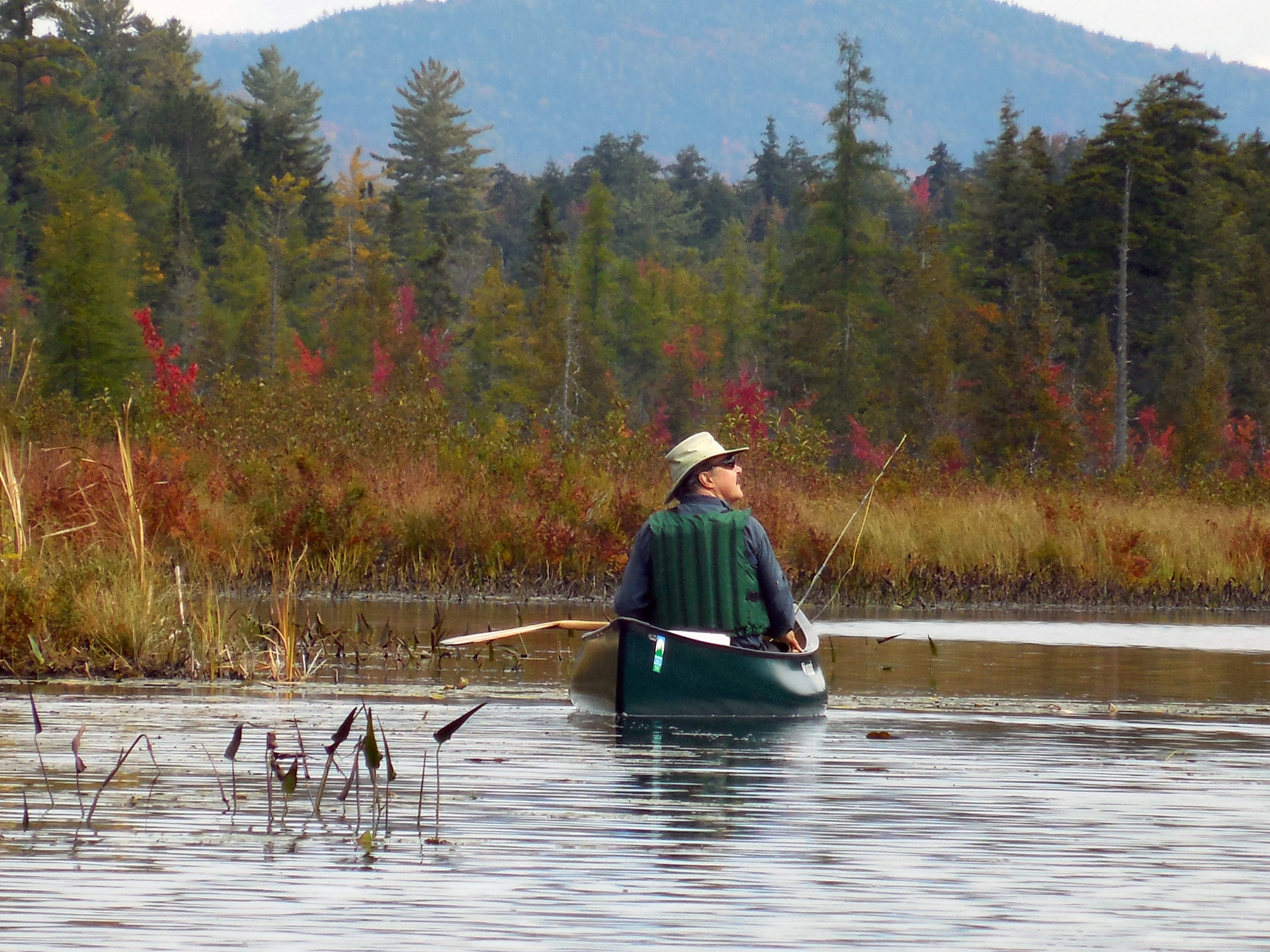 Fall fishing in Raquette Lake.