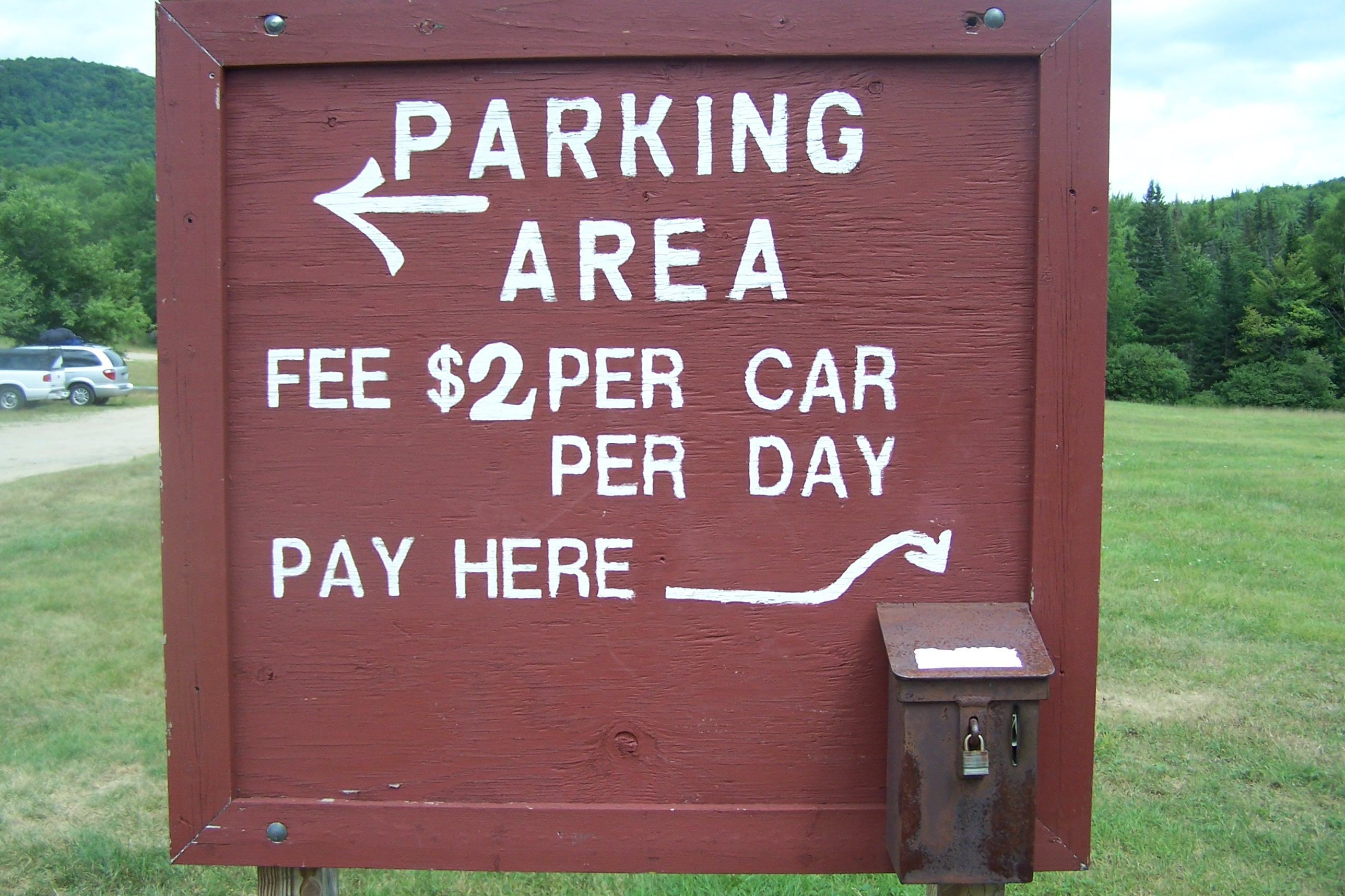 Chimney Mountain Parking