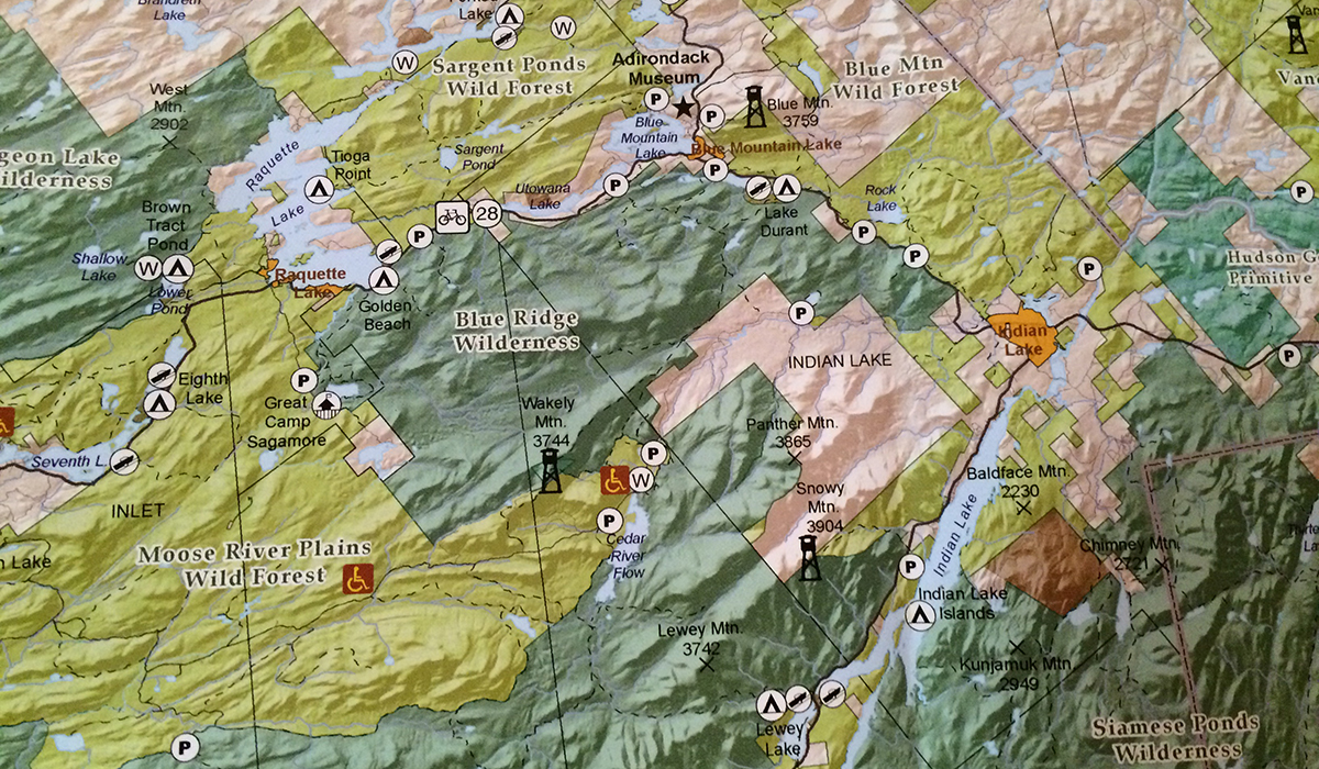 Adirondack Forest Preserve Map