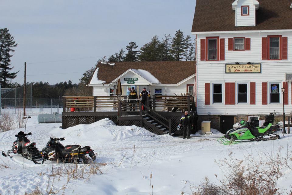 Long Lake Diner Snowmobiles