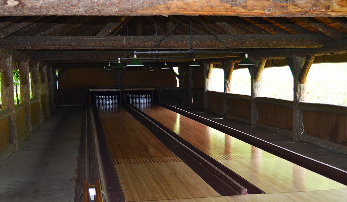 The Outdoor Bowling Alley at Great Camp Sagamore