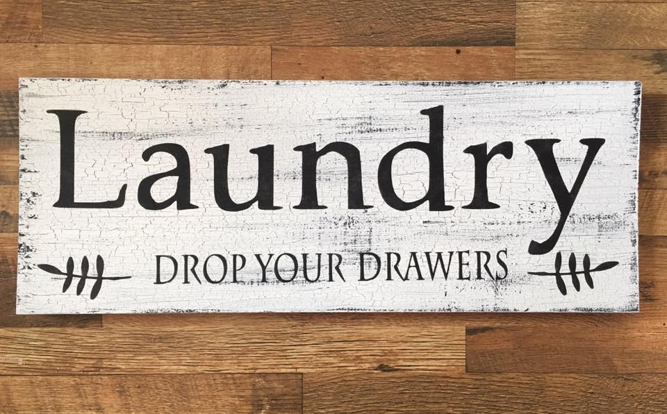 Laundry Sign Making by Maiden by The Lake