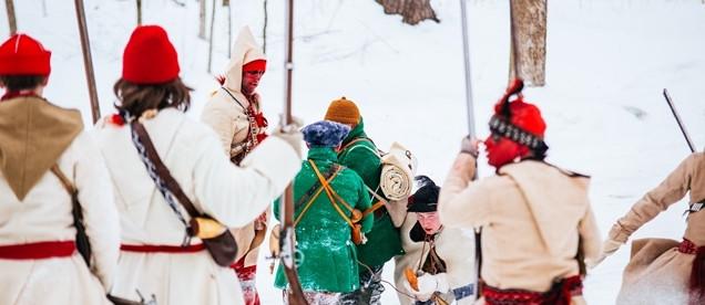 Battle Reenactment: 1758 Battle on Snowshoes