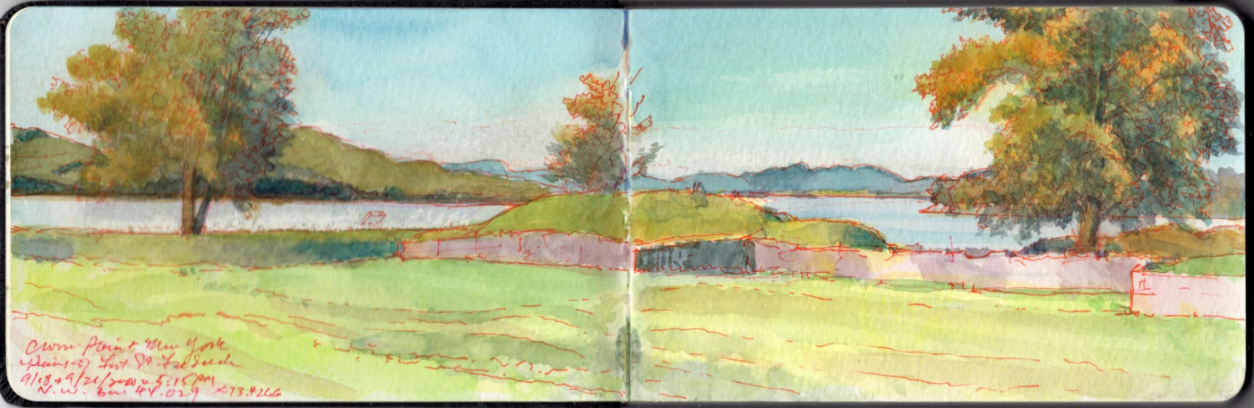 ON THE SPOT Landscape Drawing at Crown Point State Historic Site