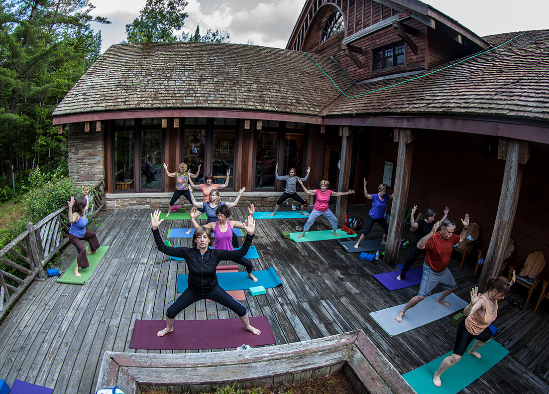 Yoga on the Deck at Paul Smith's College VIC