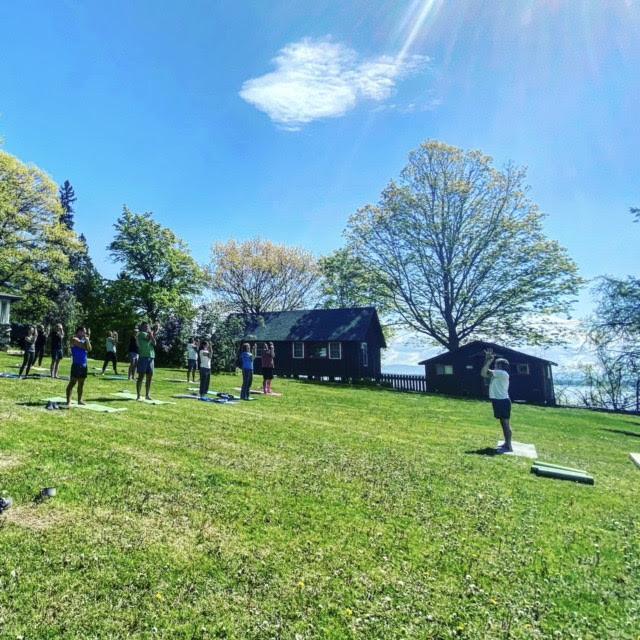 Yoga Class At Furnace Point Lake Resort!