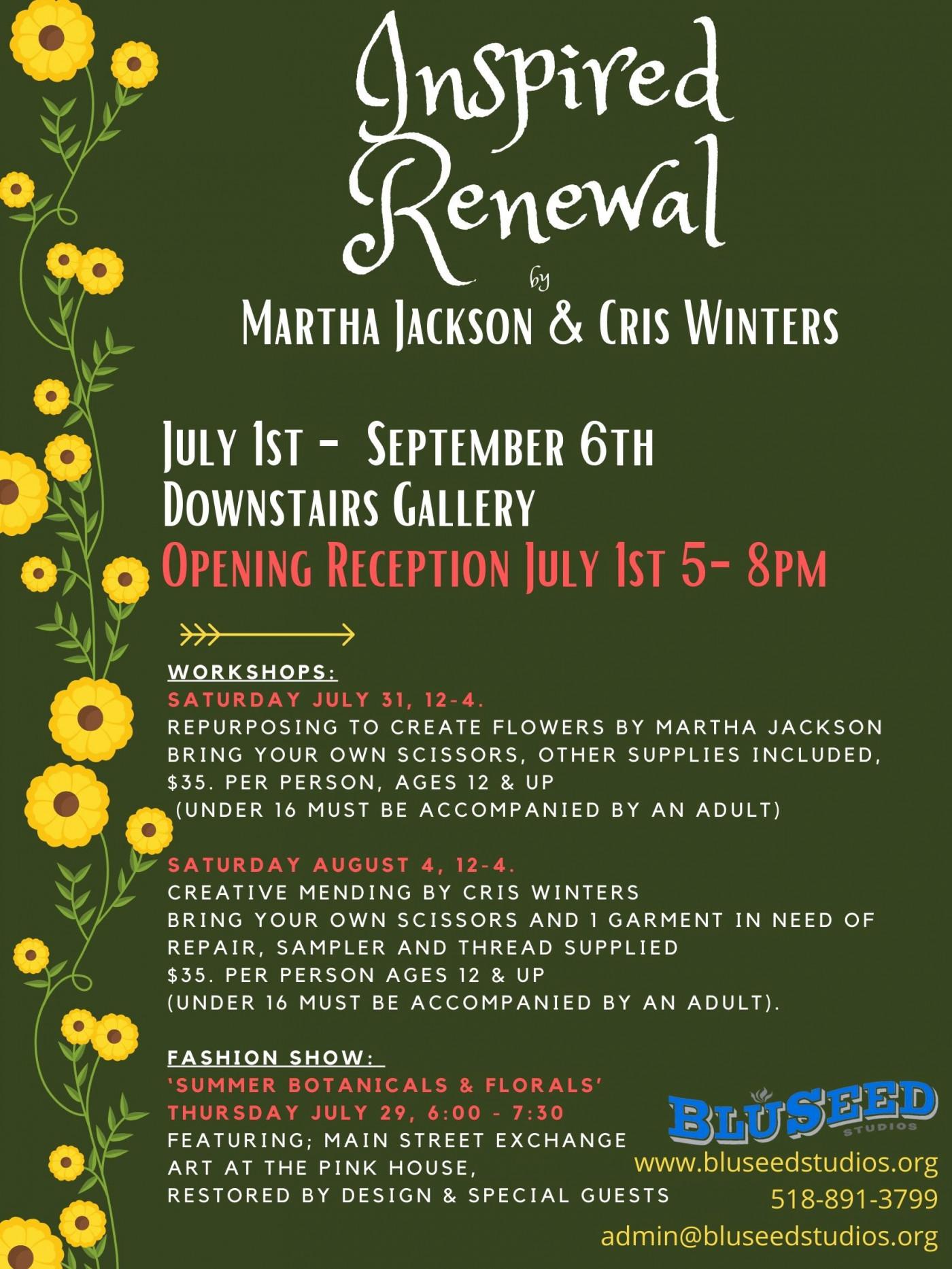 Inspired Renewals Workshop: Repurposing to Make Flowers