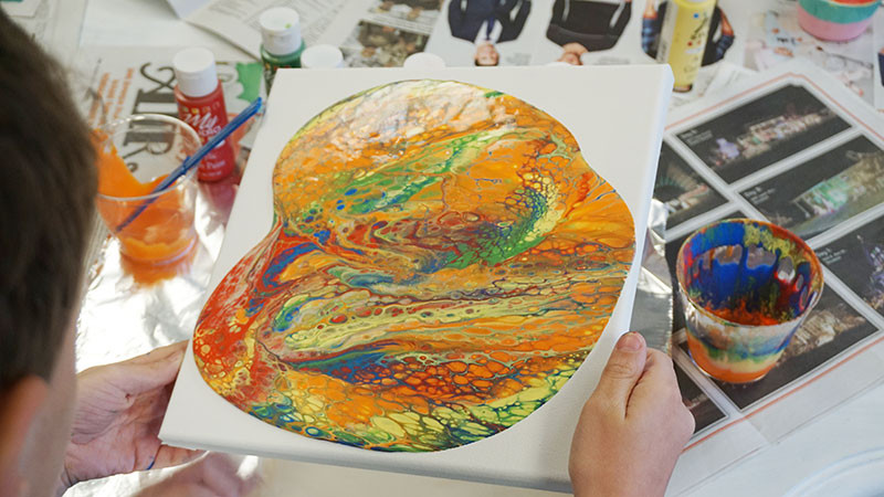Paint Pouring Demonstration