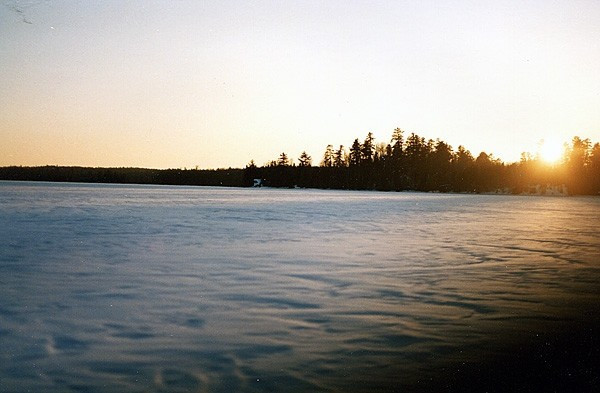 Lake Champlain, the ice