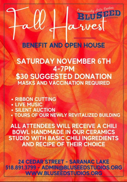 Fall Harvest Benefit and Open House at BluSeed