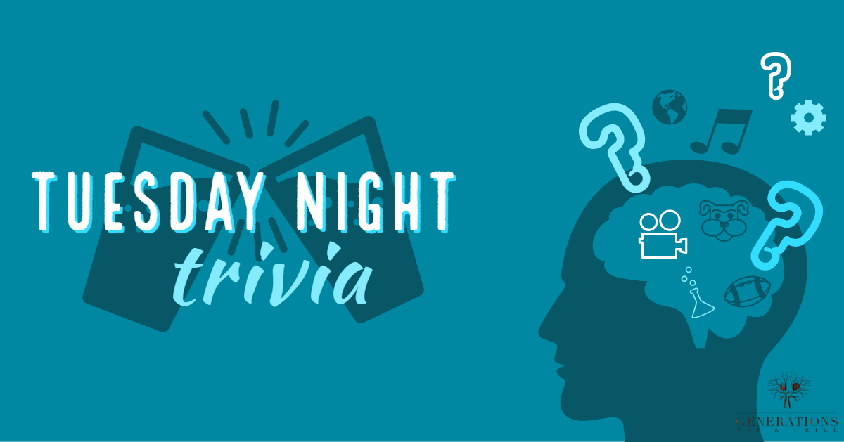 Trivia Night at Generations Tap & Grill