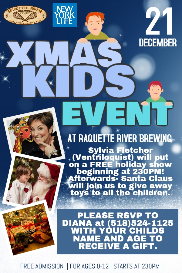 A Kids Christmas Event at Raquette River Brewing
