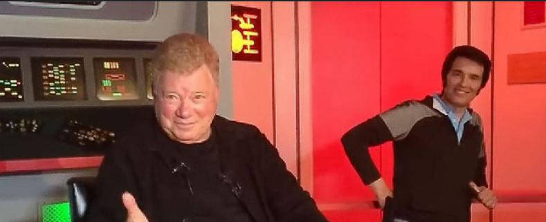 Captain Kirk returns to Star Trek Original Series Set Tour