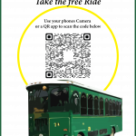 Placid Express Train Station Parking loop Location Map with QR Code
